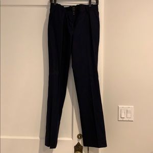 JCrew Navy Favorite Fit Wool Trousers